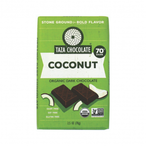 Taza Coconut Organic Dark Chocolate 70% - 70gm