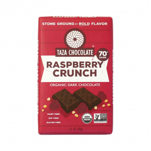 Taza Raspberry Crunch Organic Dark Chocolate 70% - 70g