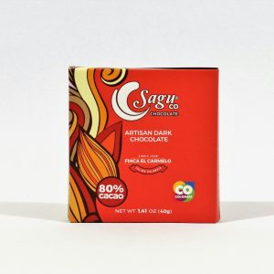 Sagu 80% Cocoa Milk Artisan Dark Chocolate - 40g