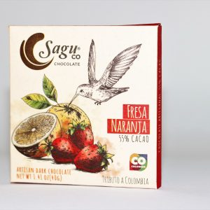 Sagu Chocolate 55% Strawberry Orange Fresa Naranja Cacao - 40g