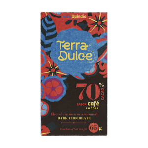 Terra Dulce Dark Chocolate Bar 70% Cacao with Coffee - 65g