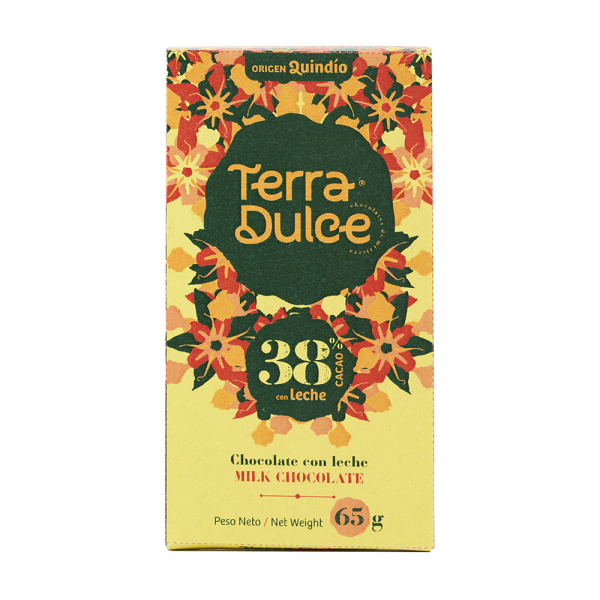 Terra Dulce Milk Chocolate Bar 38% Cacao Conleche 65g