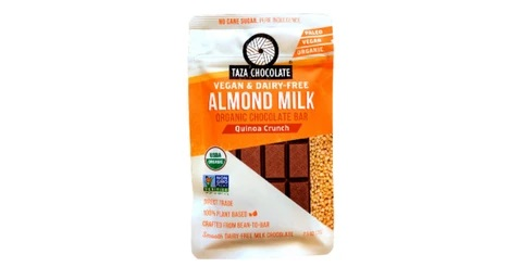 Taza Almond Milk Quinoa Crunch - Dark Chocolate Bar -70gm