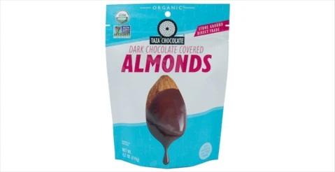 Taza Chocolate Covered Almonds Bag -Dark Chocolate Bag - 119gm