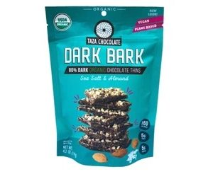 Taza Sea Salt & Almond Dark Bark - Dark Chocolate Bag 119gm