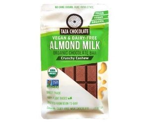 Taza Almond Milk Crunchy Cashew - Dark Chocolate Bar - 70gm