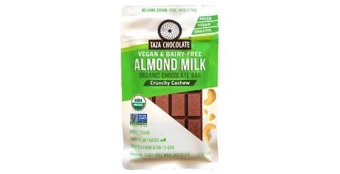 Taza Almond Milk Crunchy Cashew - Dark Chocolate Bar - 70gm