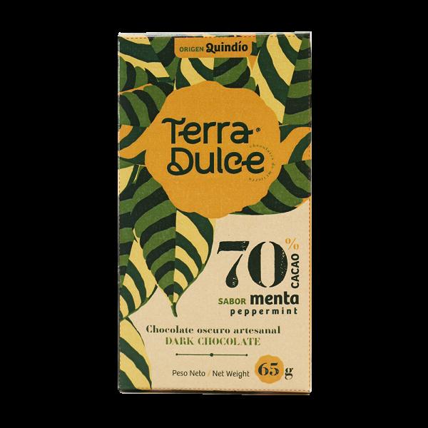 Dark Chocolate 70% Cacao Peppermint 65 g