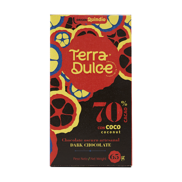Dark Chocolate 70% Cacao with coconut 65 g